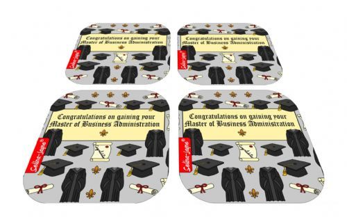 Selina-Jayne Graduation MBA Limited Edition Designer Coaster Gift Set